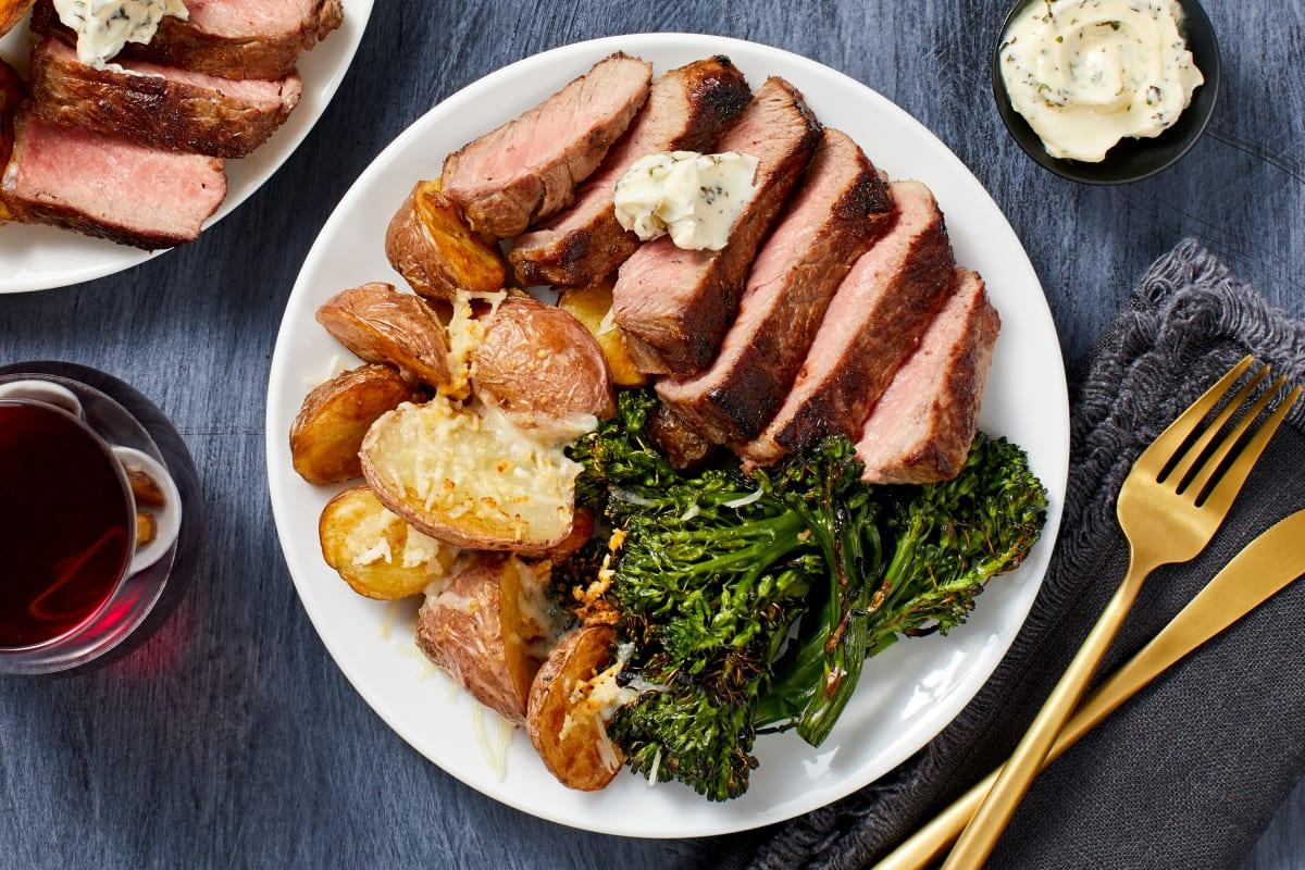 Garlic Herb Buttered Sirloin Steak