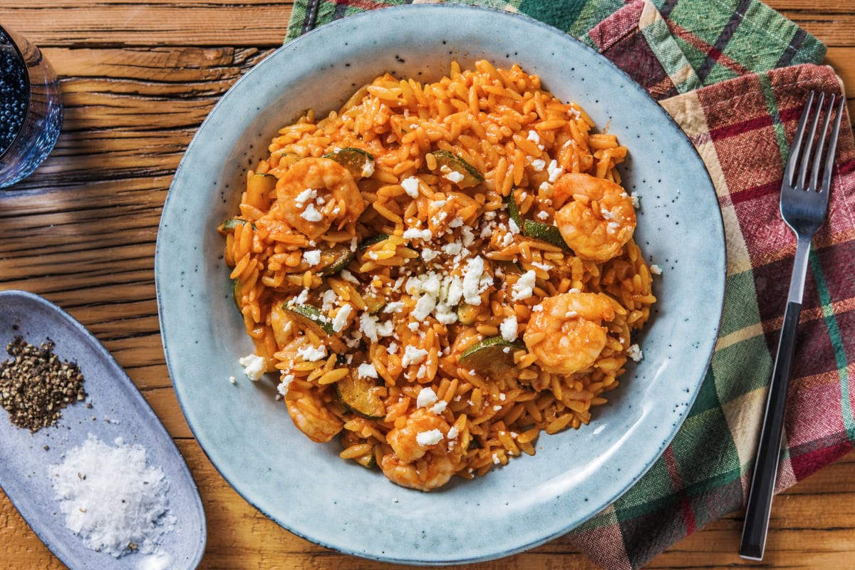 Garlicky Prawn and Tomato Orzo