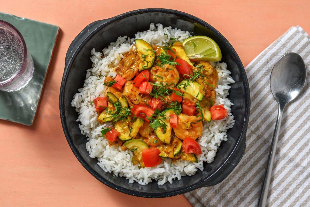 Garnalen in vadouvan-curry