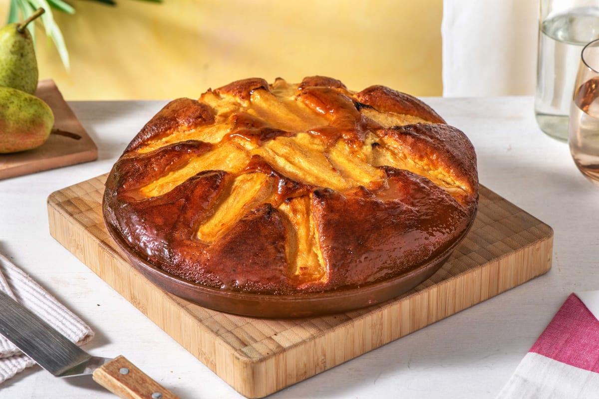 Gâteau léger à la poire et à la cannelle