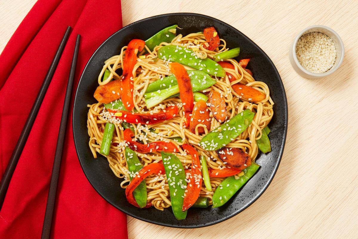 Ginger Soy Noodle Stir-Fry