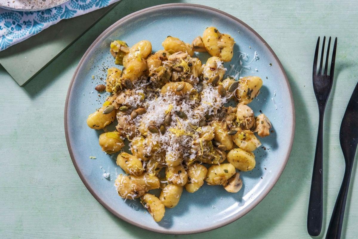 Gnocchi poêlés au beurre de sauge & champignons