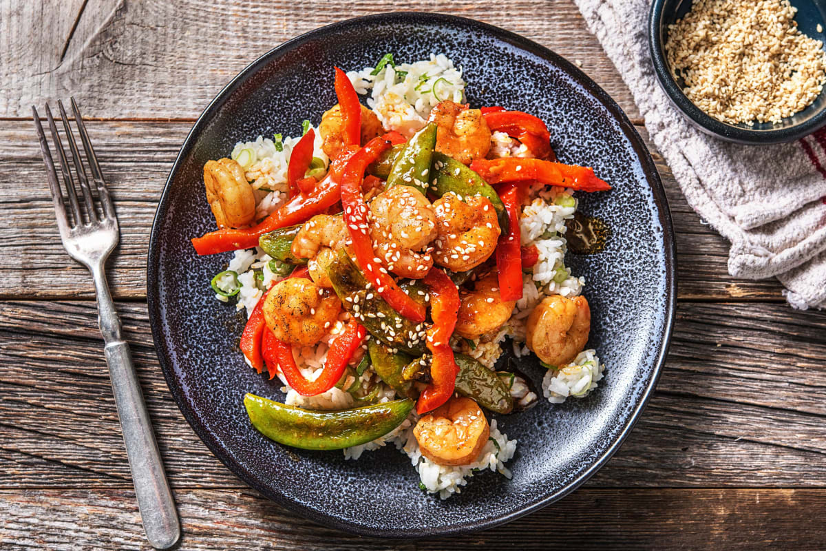 Gochujang Sugar-Glazed Shrimp