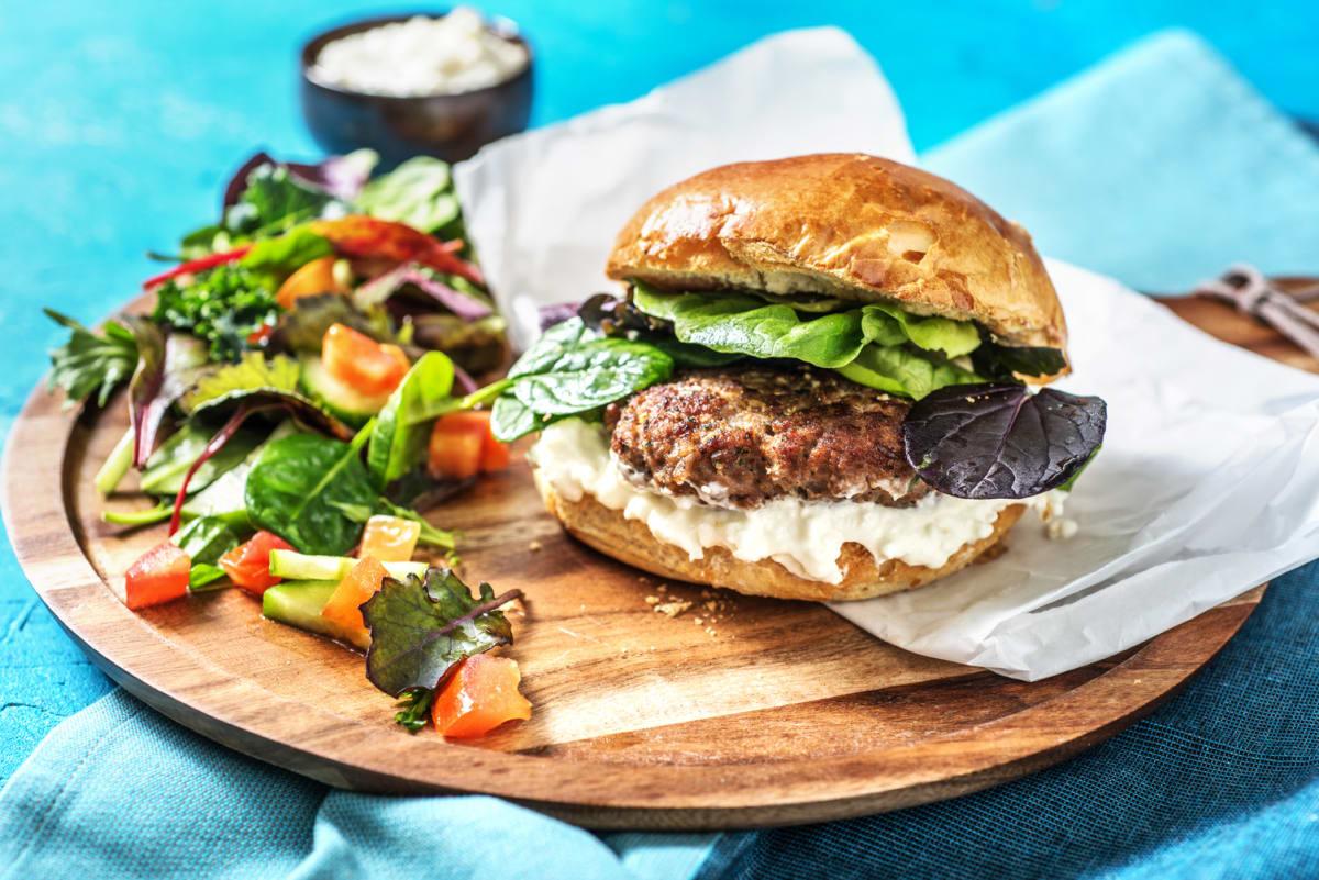 Greek Lamb Burger