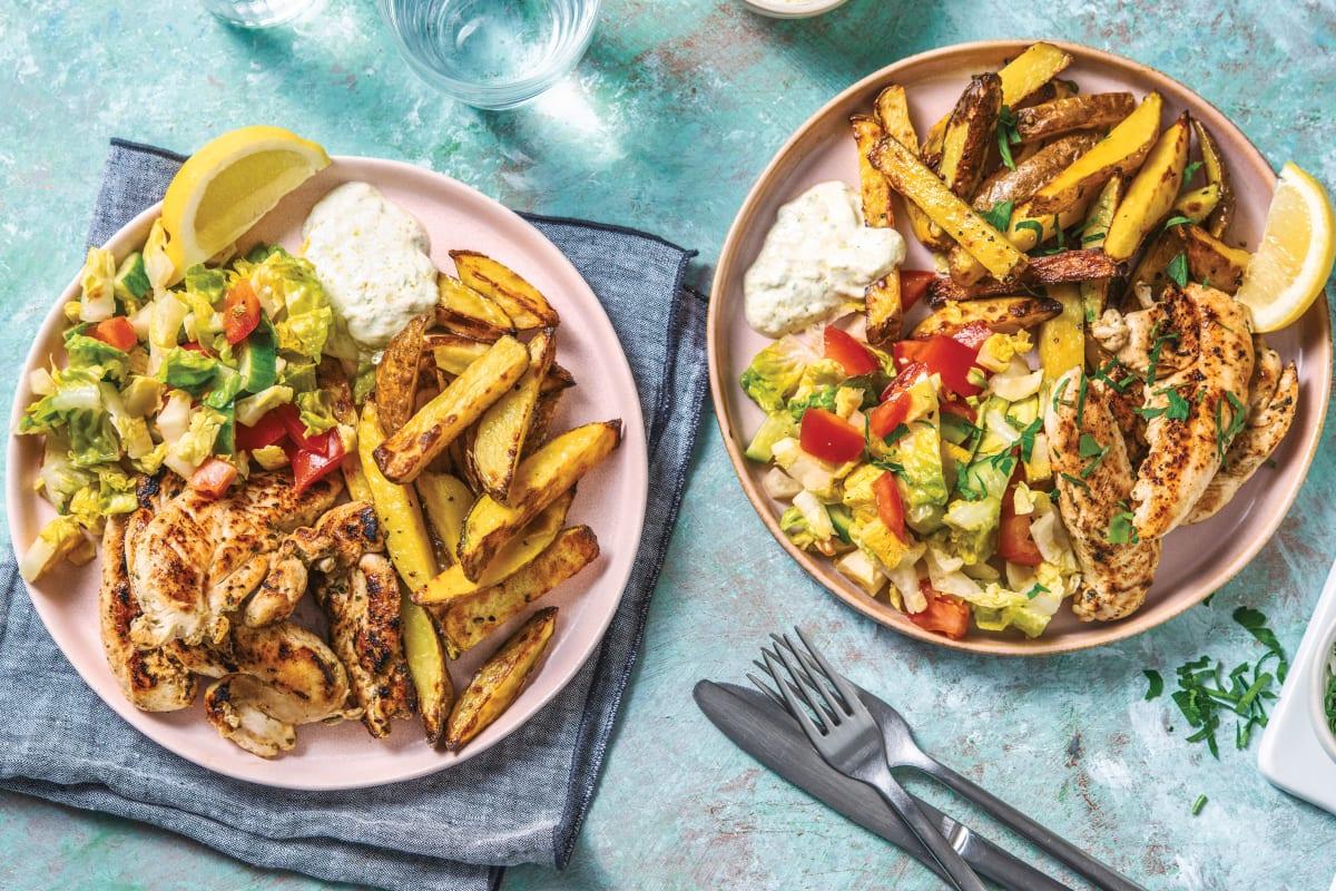 Greek-Style Chicken & Lemon Pepper Fries