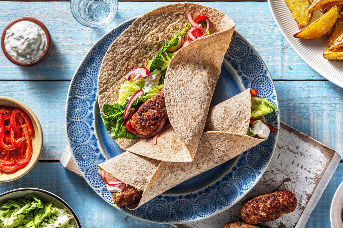 Greek Pork Kofta Wrap