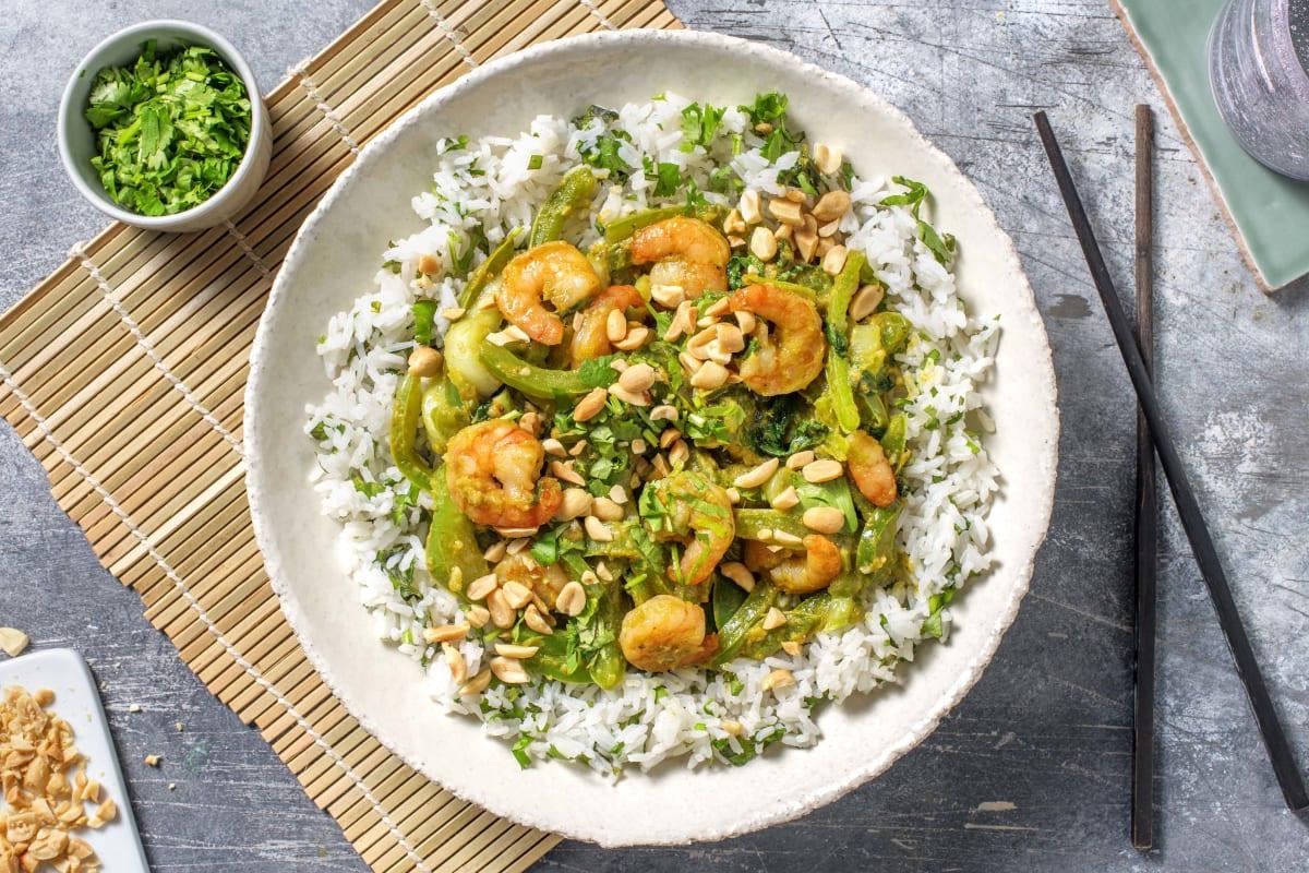 Green Thai Prawn Stir Fry