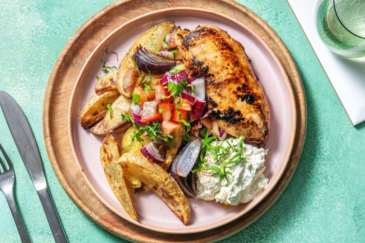 Grekisk-inspirerad kyckling