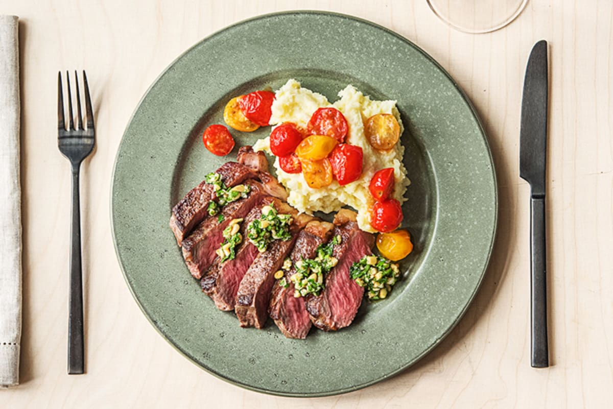 Gremolata Strip Steak
