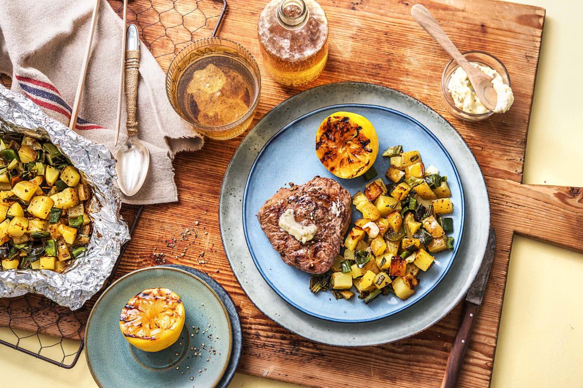 Grilled Lemon Pepper Steak