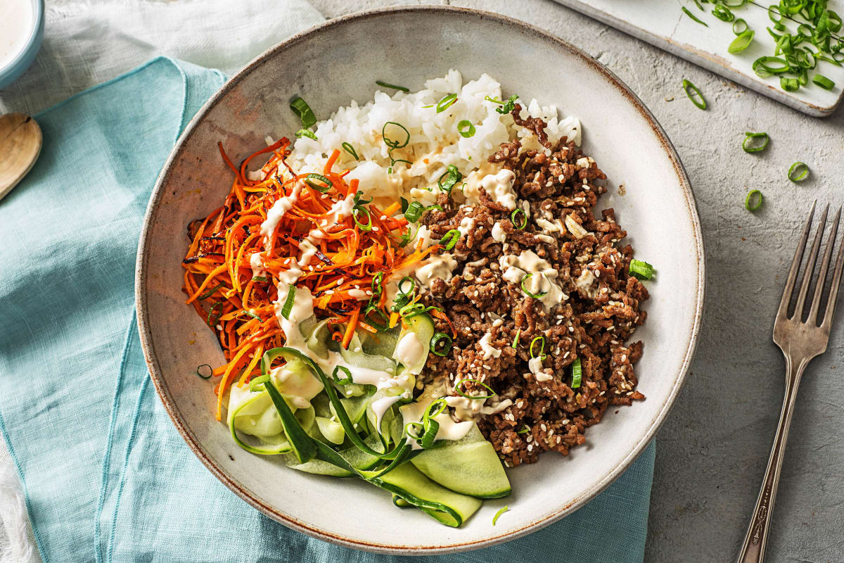Ground Beef Bulgogi Bowls