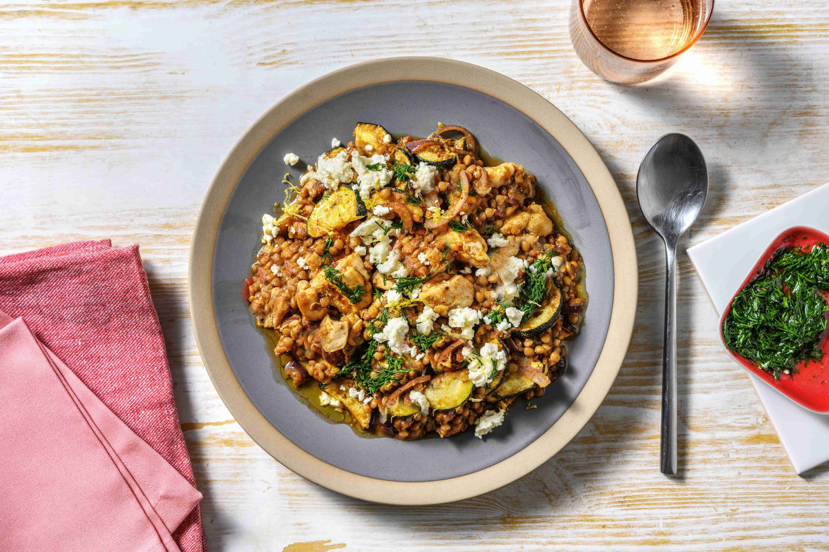 Harissa Chicken Breast and Lentil Jumble