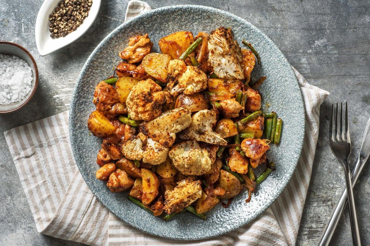 Harissa Chicken with Roasted Cauliflower