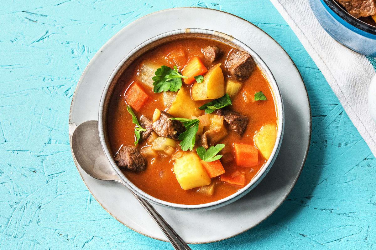 Hearty Irish Beef, Potato & Veggie Stew