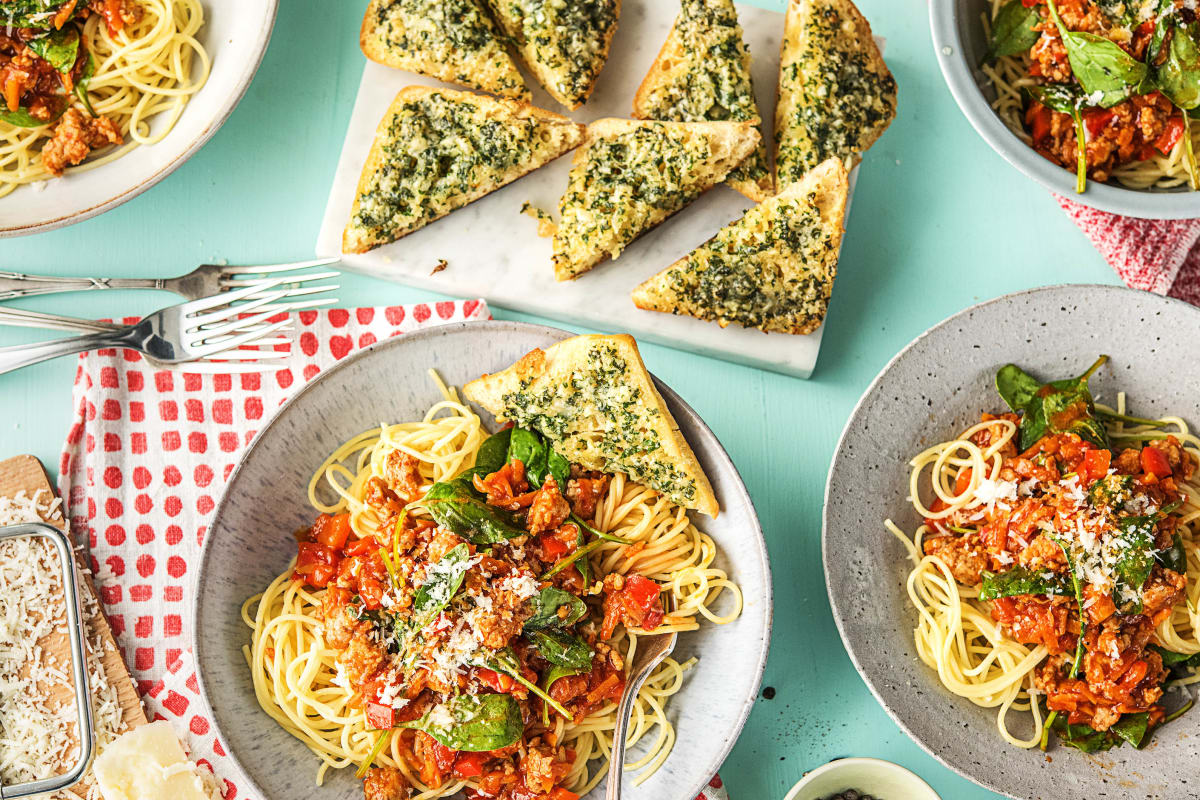 Herby Sausage Bolognese