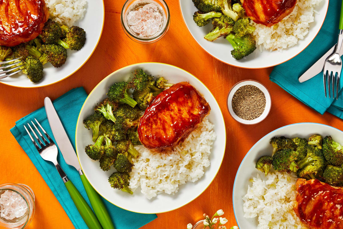Hoisin-Sriracha Pork Chops
