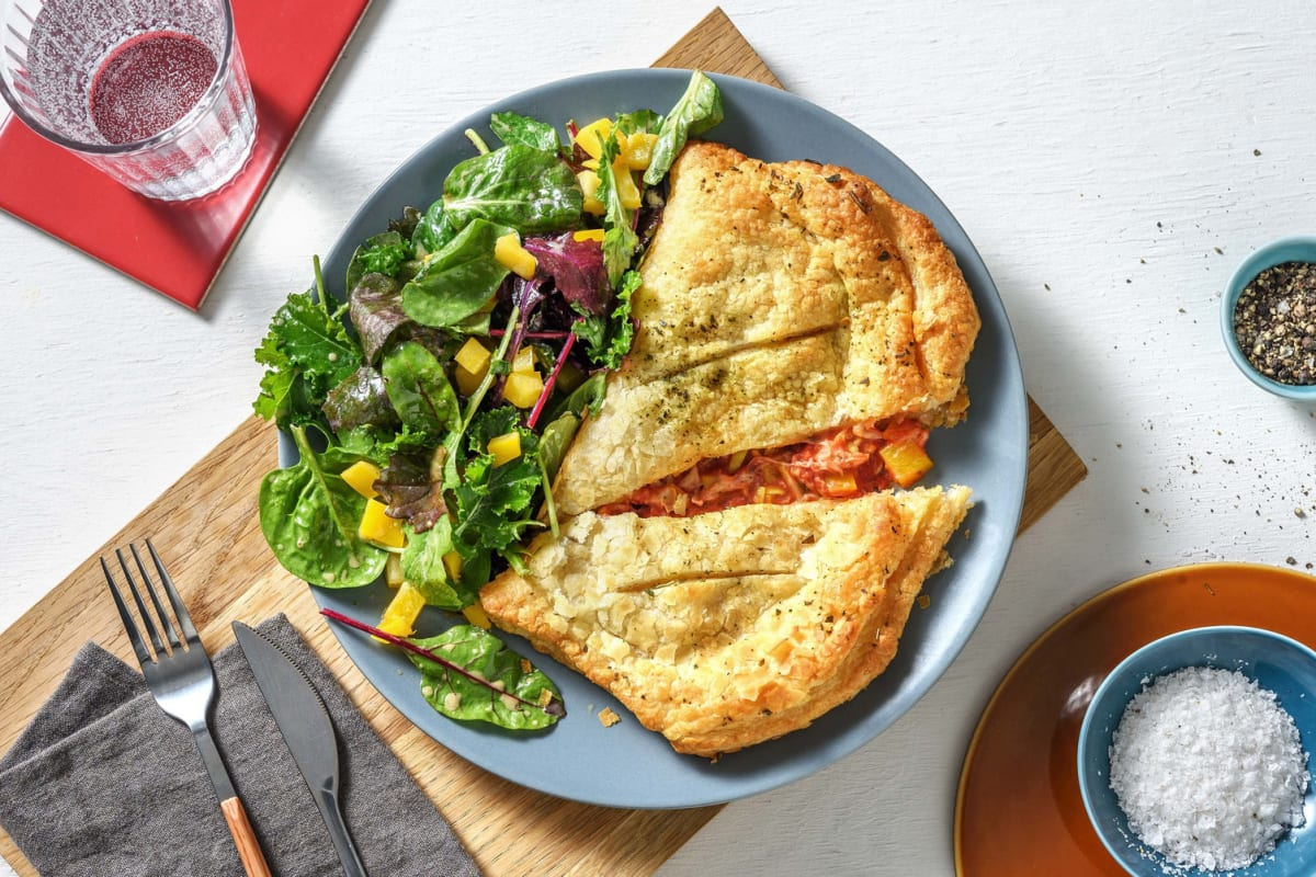 Homemade Vegetable-Packed Calzone