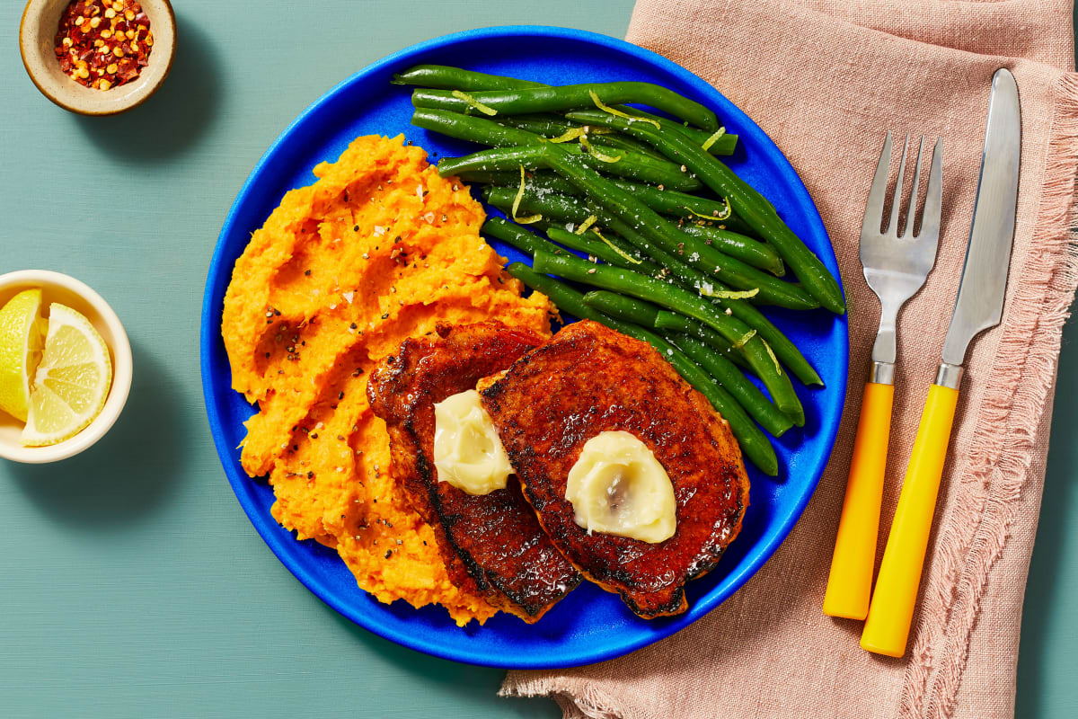 Honey Butter BBQ Pork Cutlets
