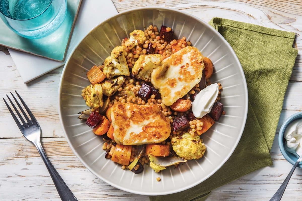 Honey Haloumi & Roasted Cauliflower Bowl