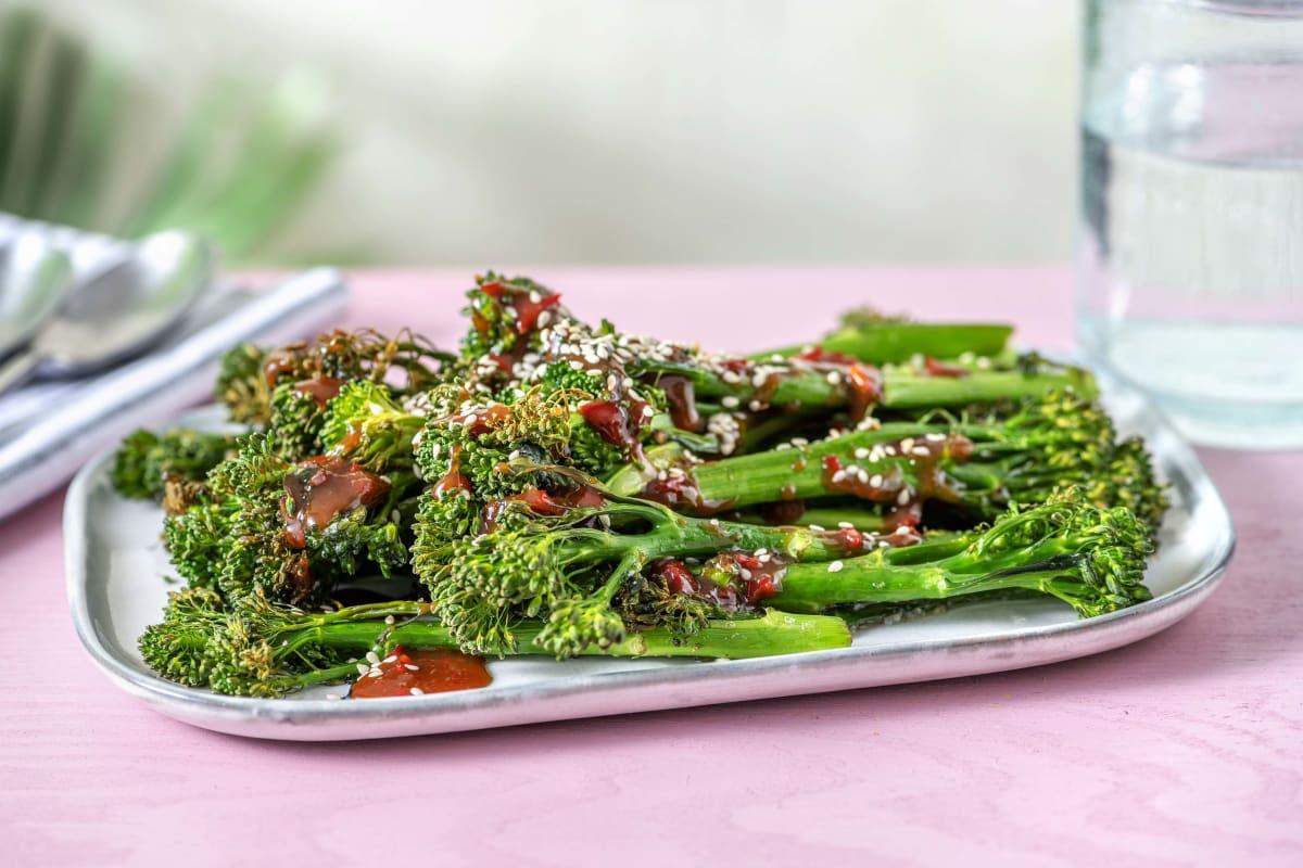 Honey Miso Roasted Tenderstem Broccoli