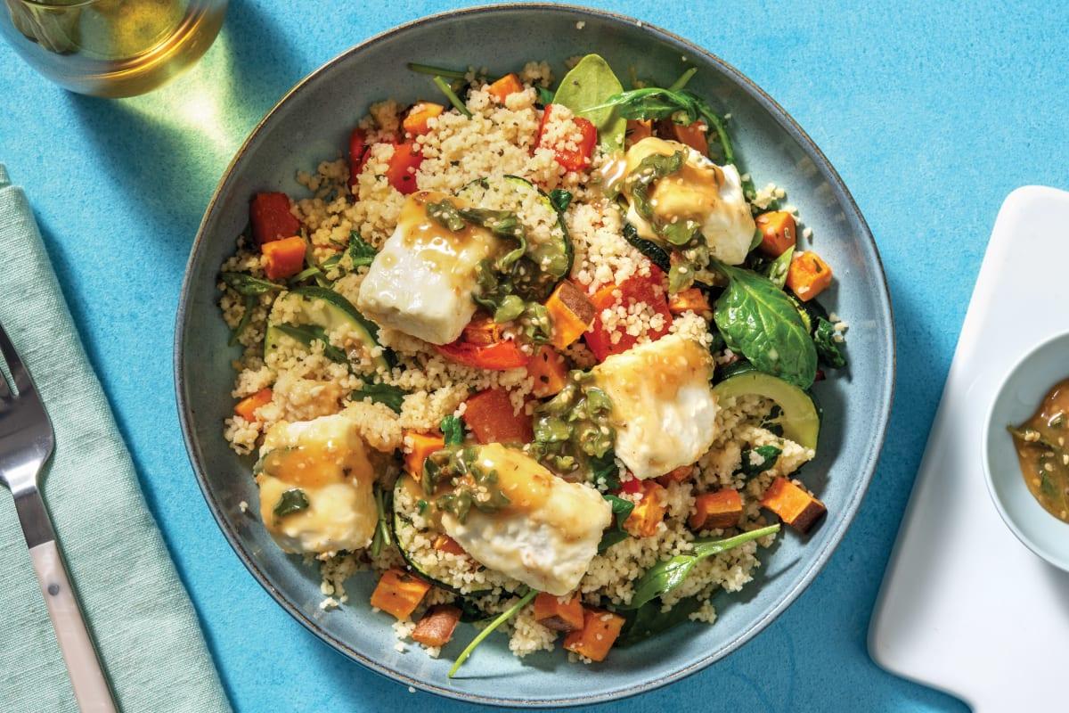 Honey-Sesame Feta & Couscous Bowl