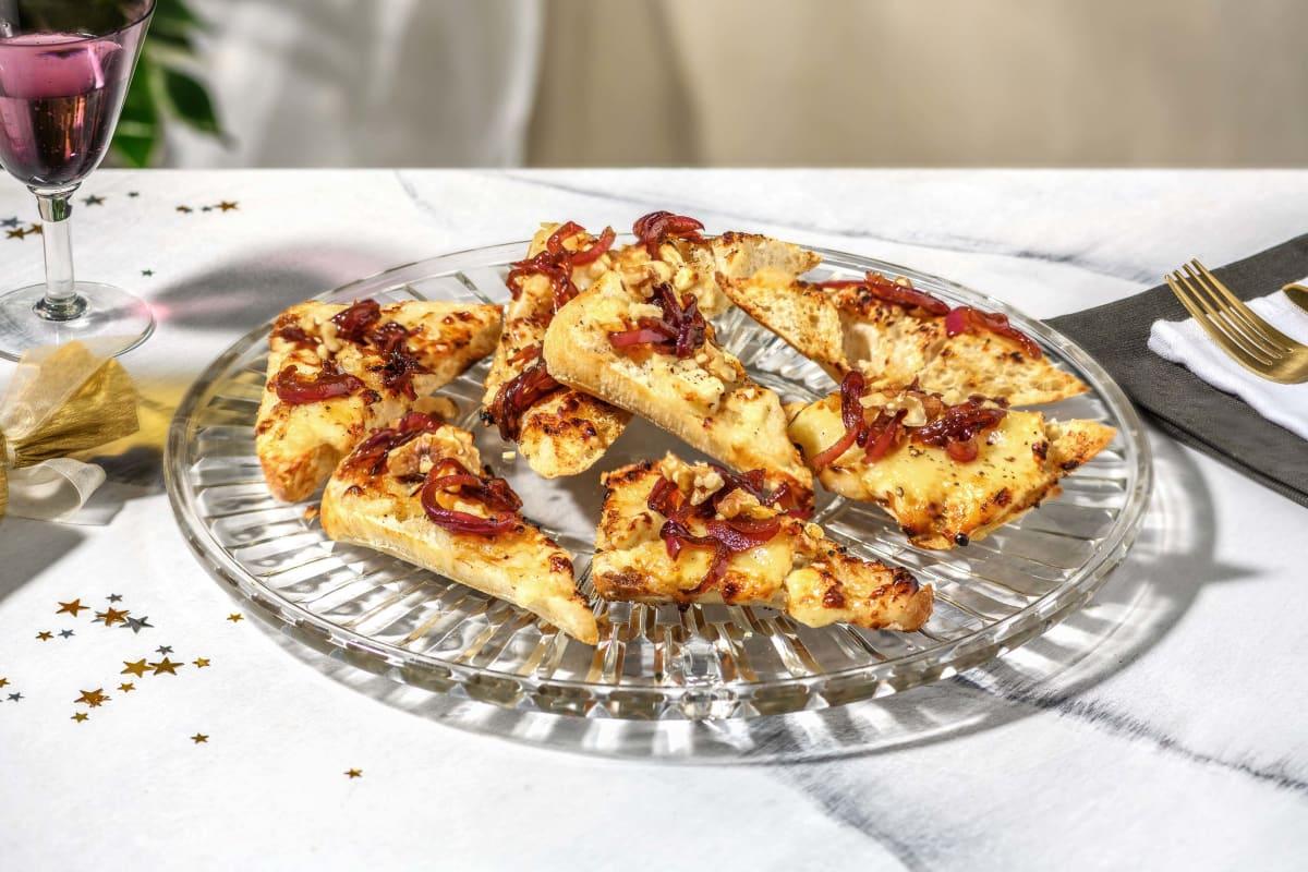Honey & Goat's Cheese Bruschetta with Walnuts