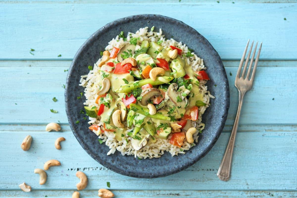 Indisches Gemüse-Curry mit Basmatireis