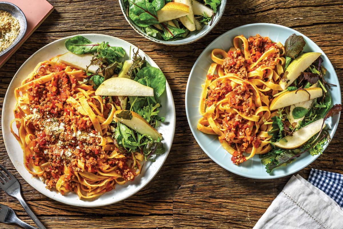 Italian Beef Ragu & Rosemary Pangrattato