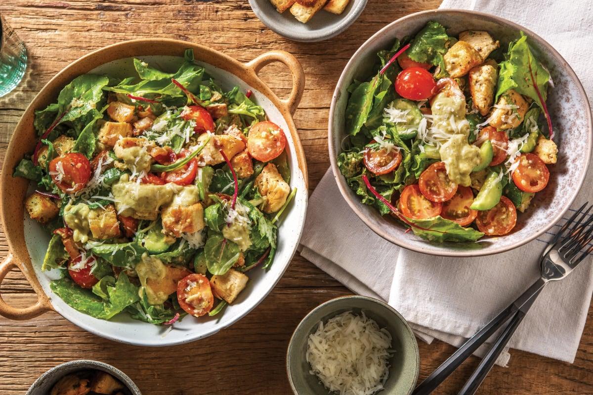 Italian Chicken Salad & Bacon Croutons