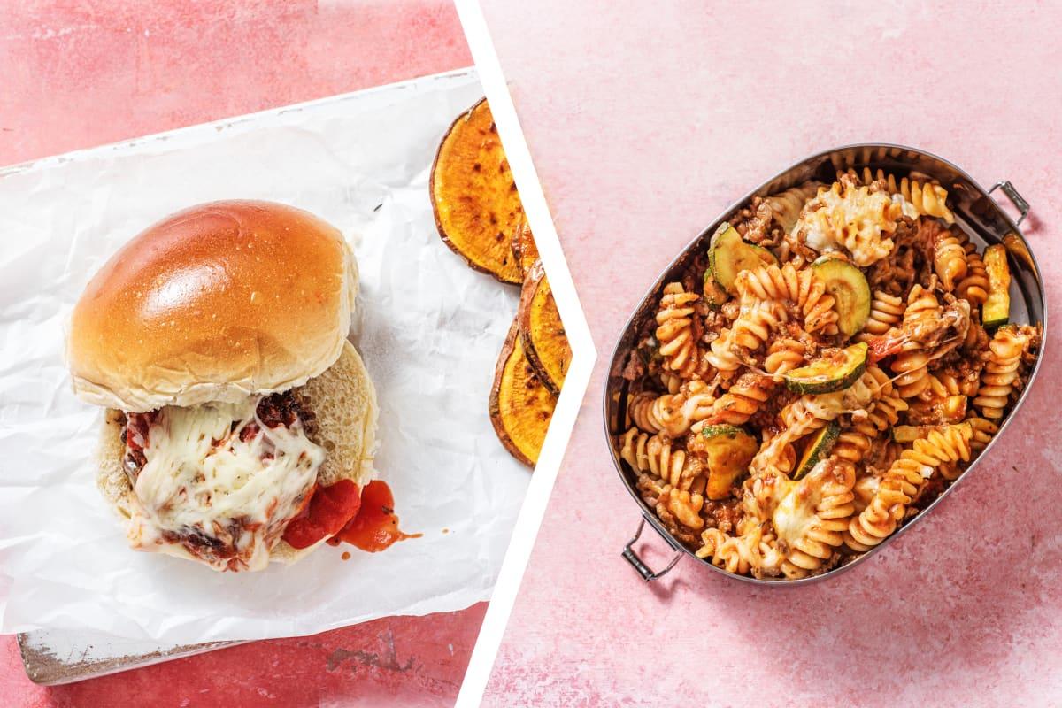 Italian Mozzarella Burgers for Dinner