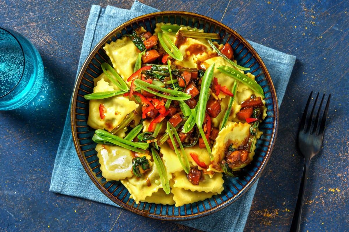 Japansk-inspirerad ravioli