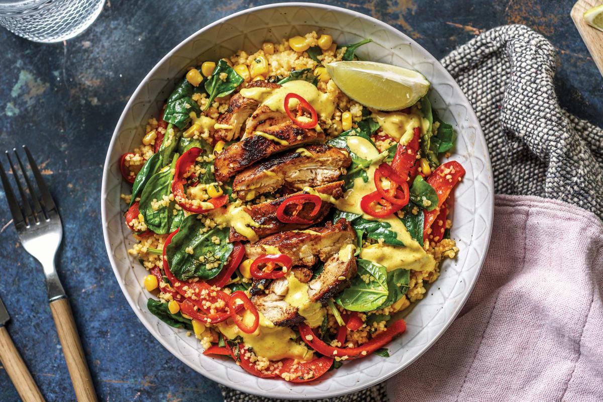 Jerk Chicken & Caribbean Couscous