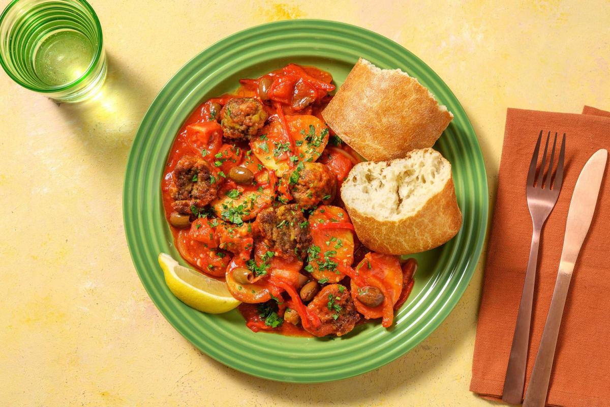 Köfte in kruidige tomatensaus