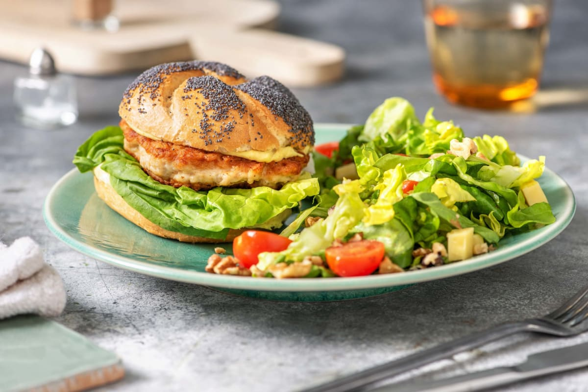 Kipburger met vadouvanmayonaise