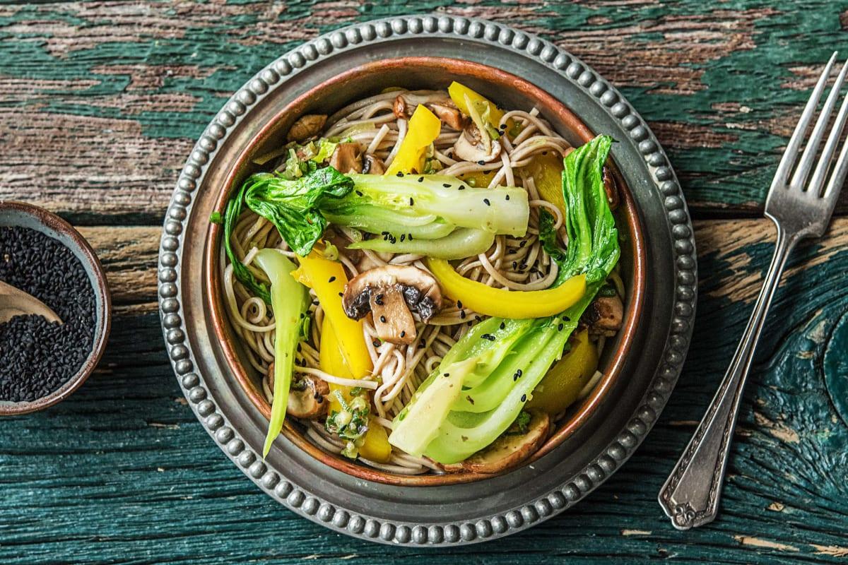 Gemüsepfanne mit Shanghai-Pak-Choi