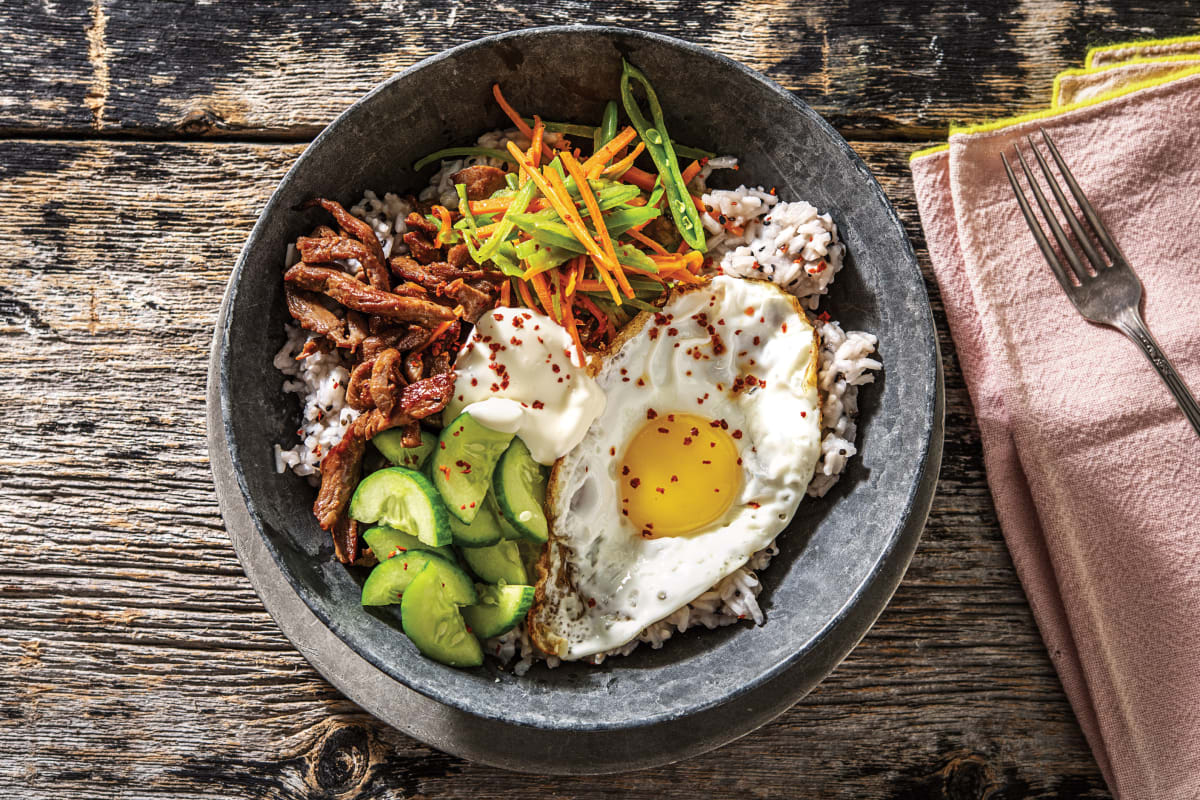 Korean Beef Bibimbap Cook Now Recipe Hellofresh