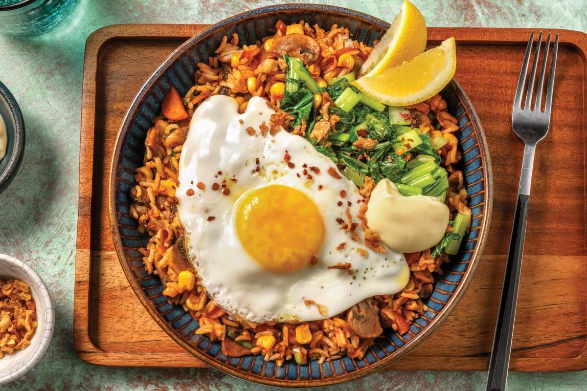 Korean Ssamjang Veggie Fried Rice