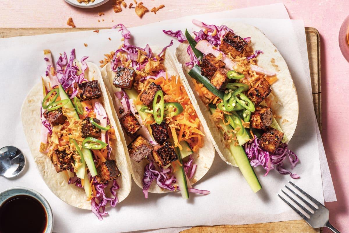 Speedy Korean BBQ Tofu Tacos