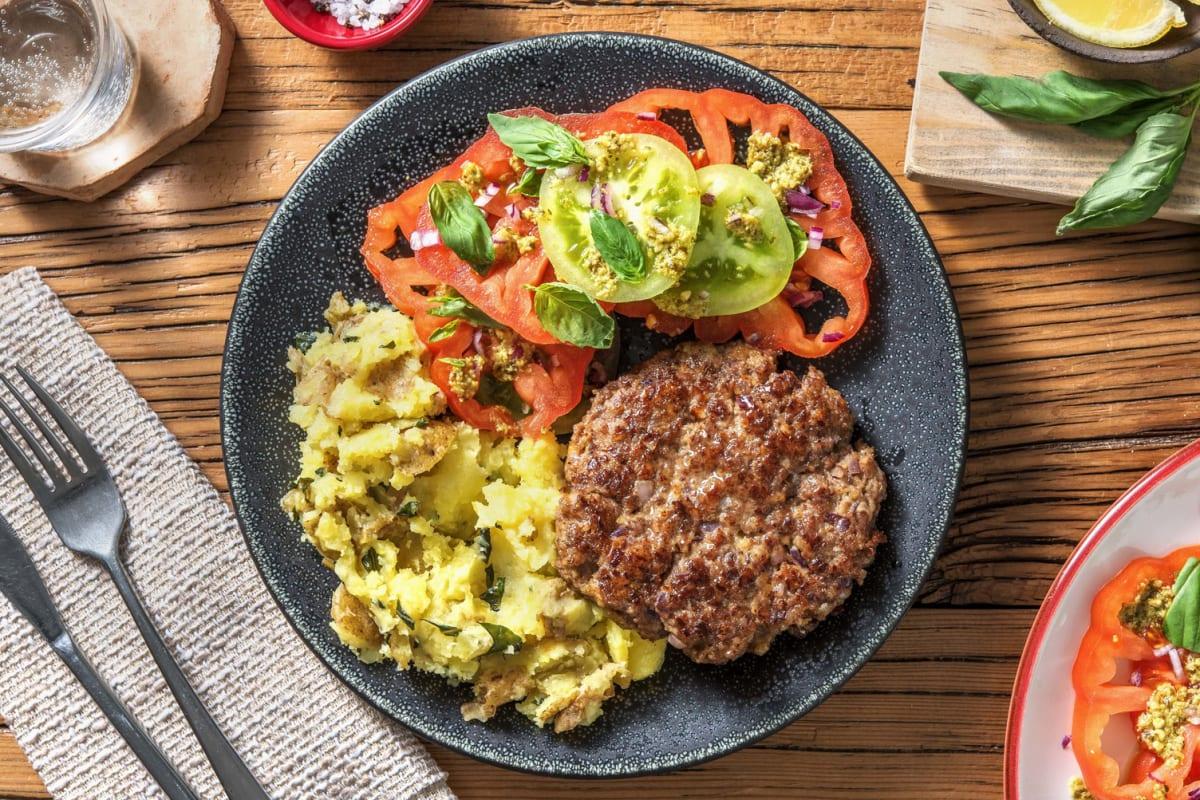 Köttfärsbiff med salladsost