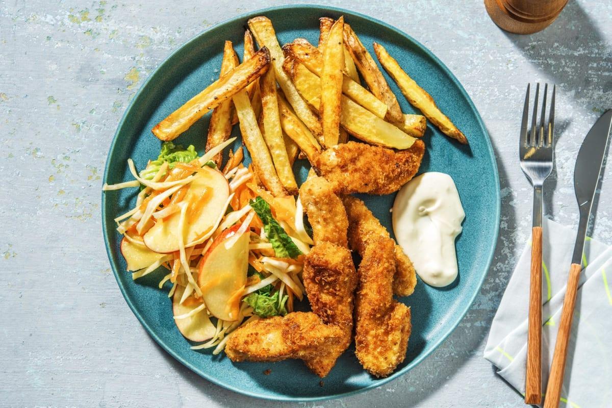 Krispig BBQ-kyckling