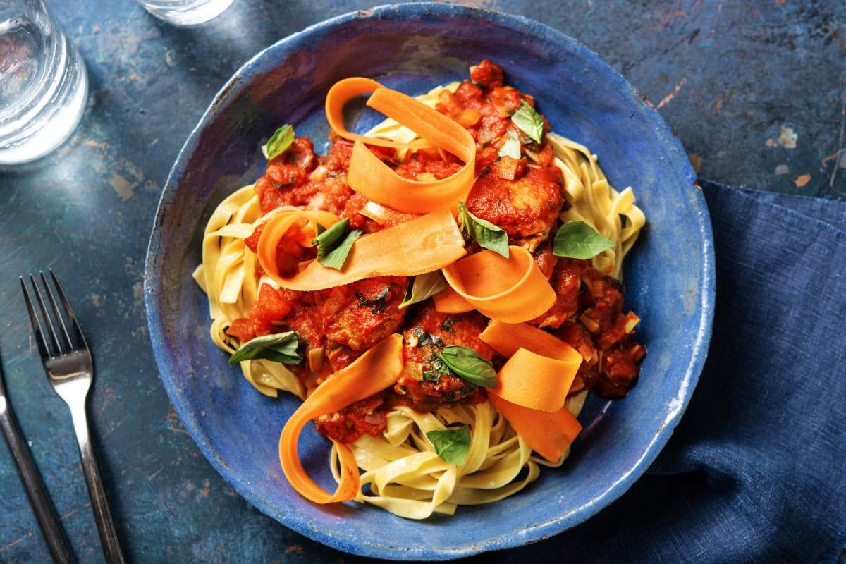 Kycklingbullar med italienska kryddor