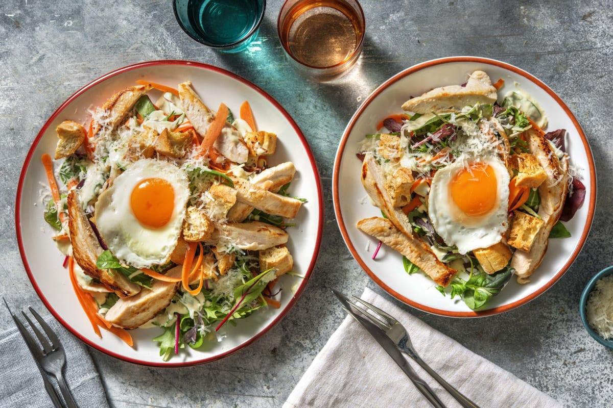 Kycklingsallad med ägg