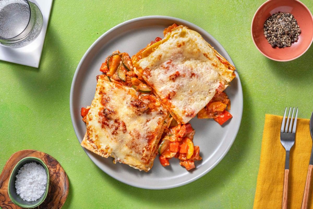 Groentelasagne met verse lasagnebladen