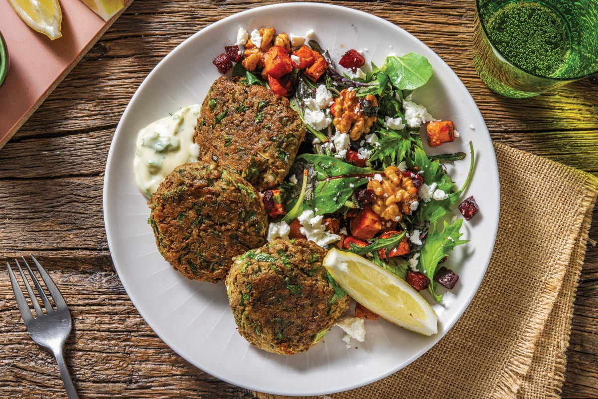 Lentil, Parsley & Dukkah Patties