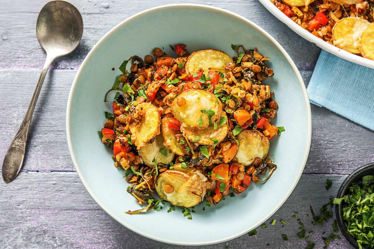 Lentil & Vegetable Hotpot (v)