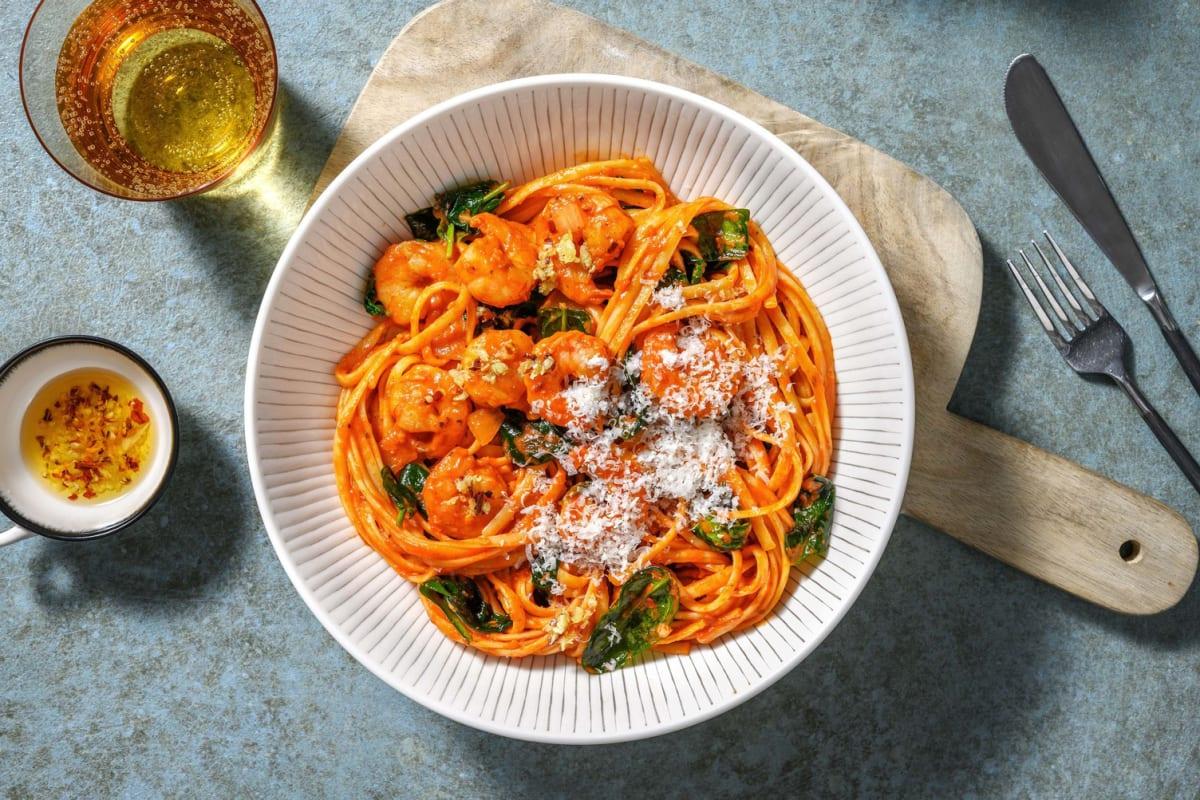 Shrimp Diavolo Linguine