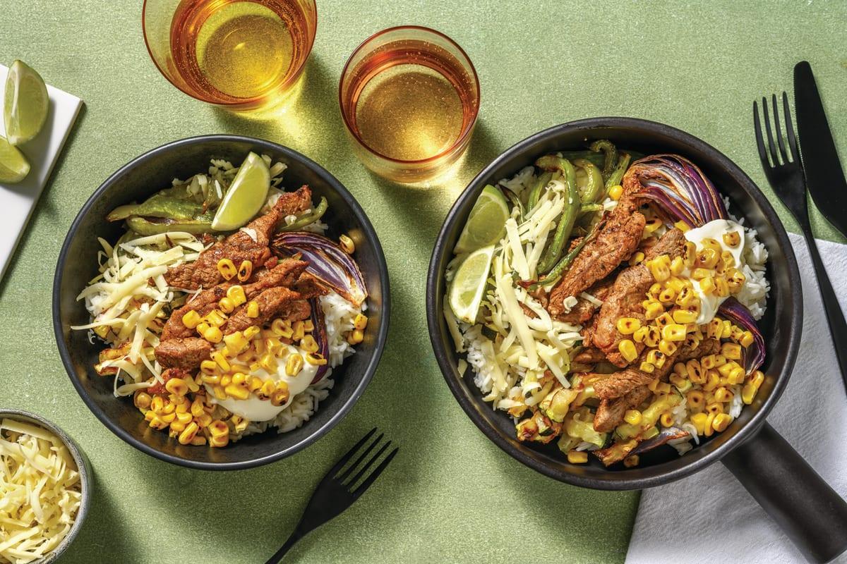 Loaded Beef Fajita Bowl
