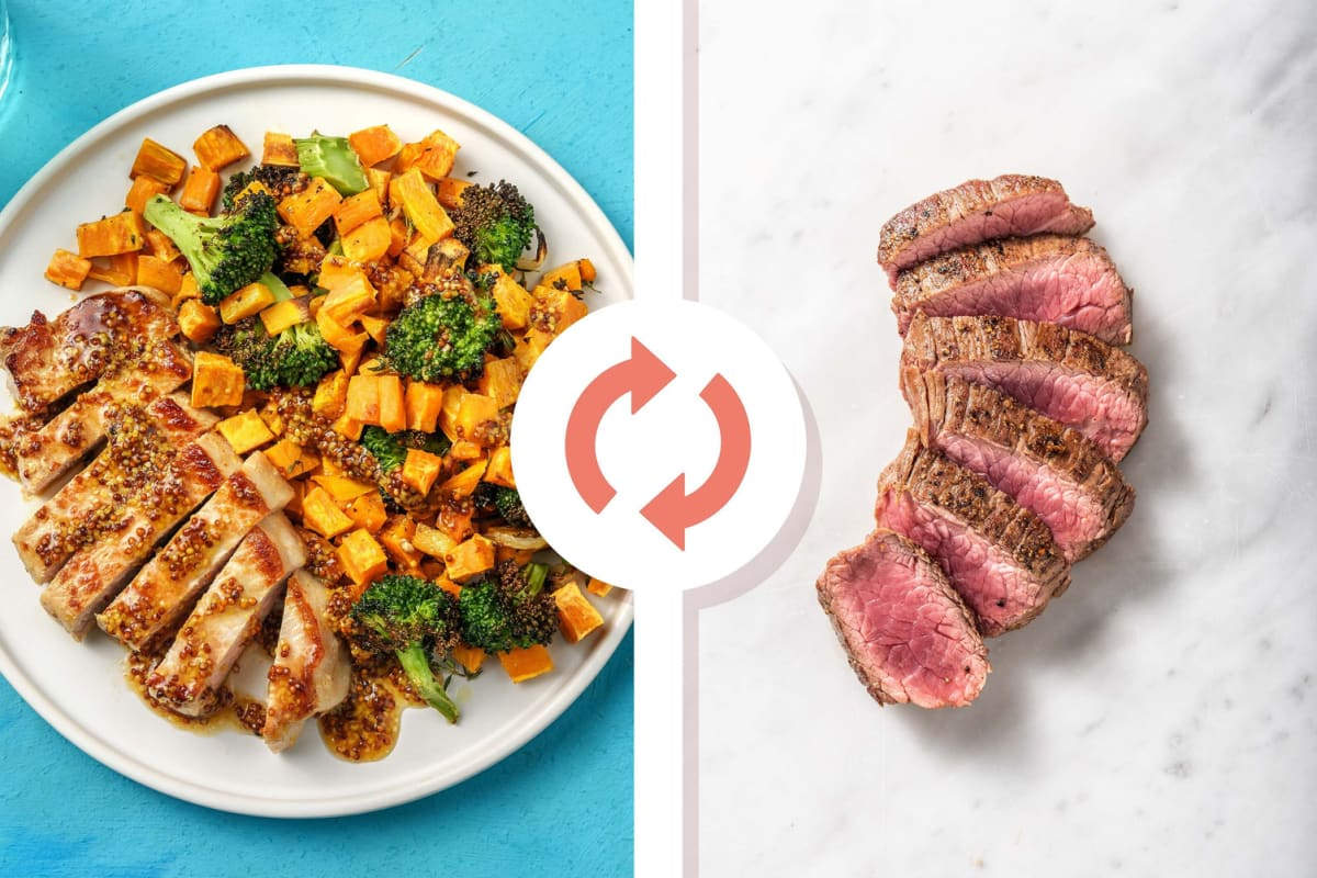 Maple-Mustard Steak