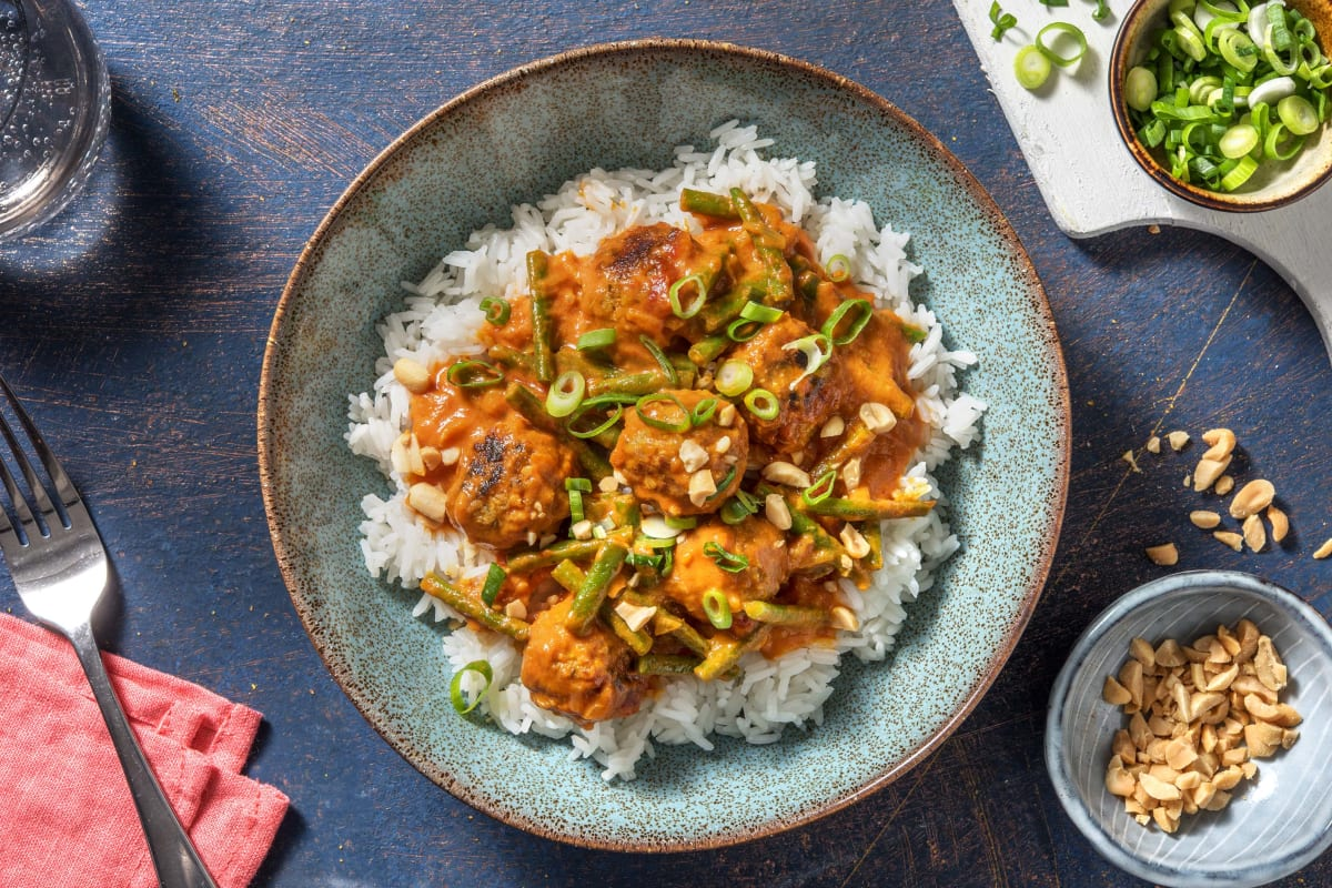 Plant Based Massaman Meatball Curry
