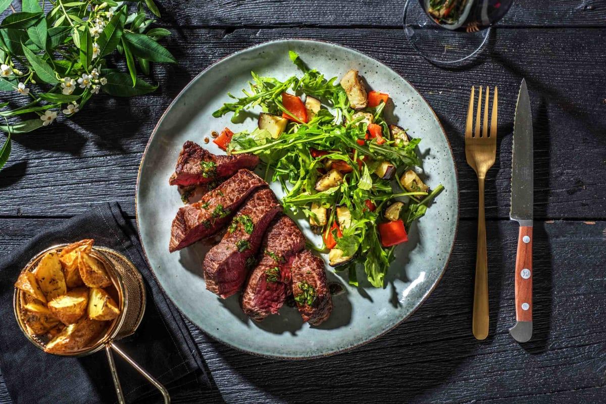 Matured Sirloin Steak and Wedges